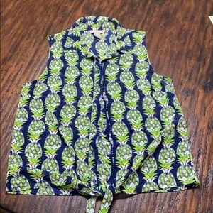 Banana republic sleeveless tropical top